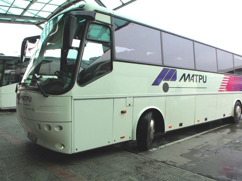 ソフィア-スコピエ間のバス外観