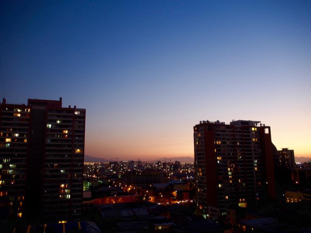 サンティアゴの宿からの眺め 夕景