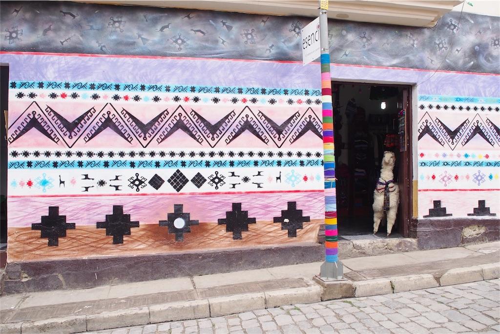 ラパスの街にてアルパカさんがこんにちは