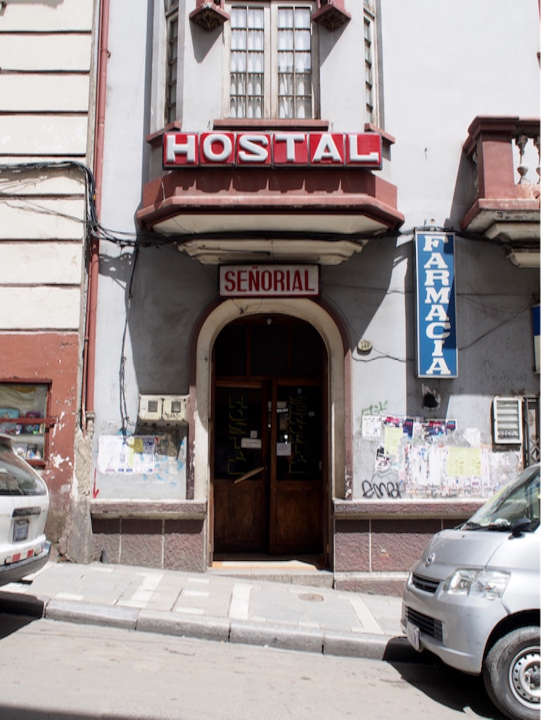 ボリビア ラパスの宿 玄関