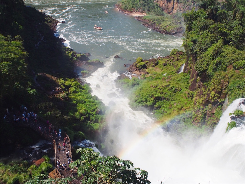 雄大なイグアスの滝