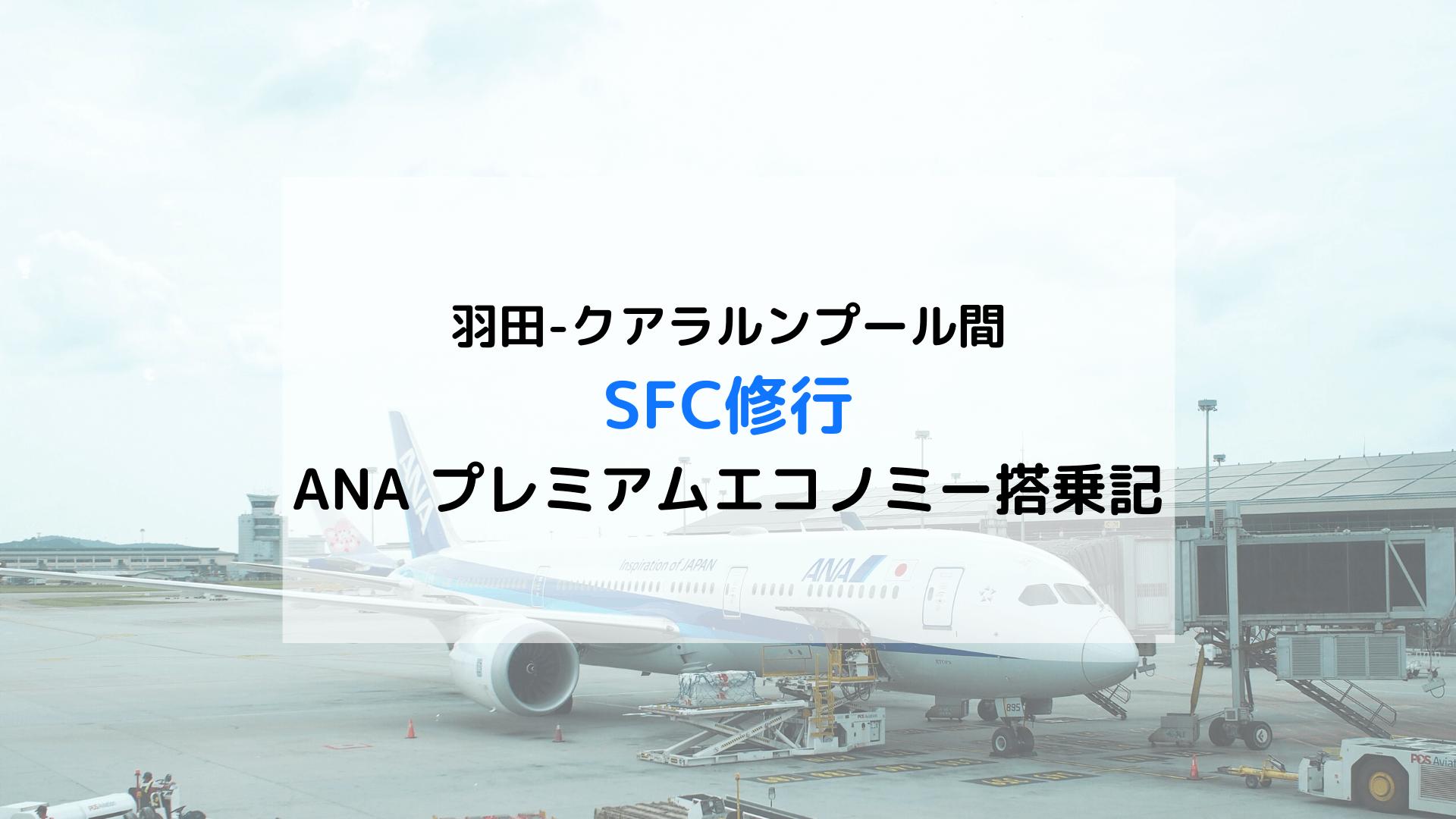 SFC修行ANAプレミアムエコノミー搭乗記