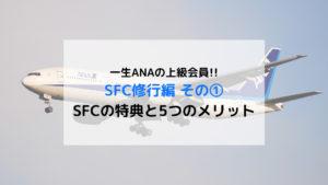《SFC修行》ANA スーパーフライヤーズカードの特典と5つのメリット
