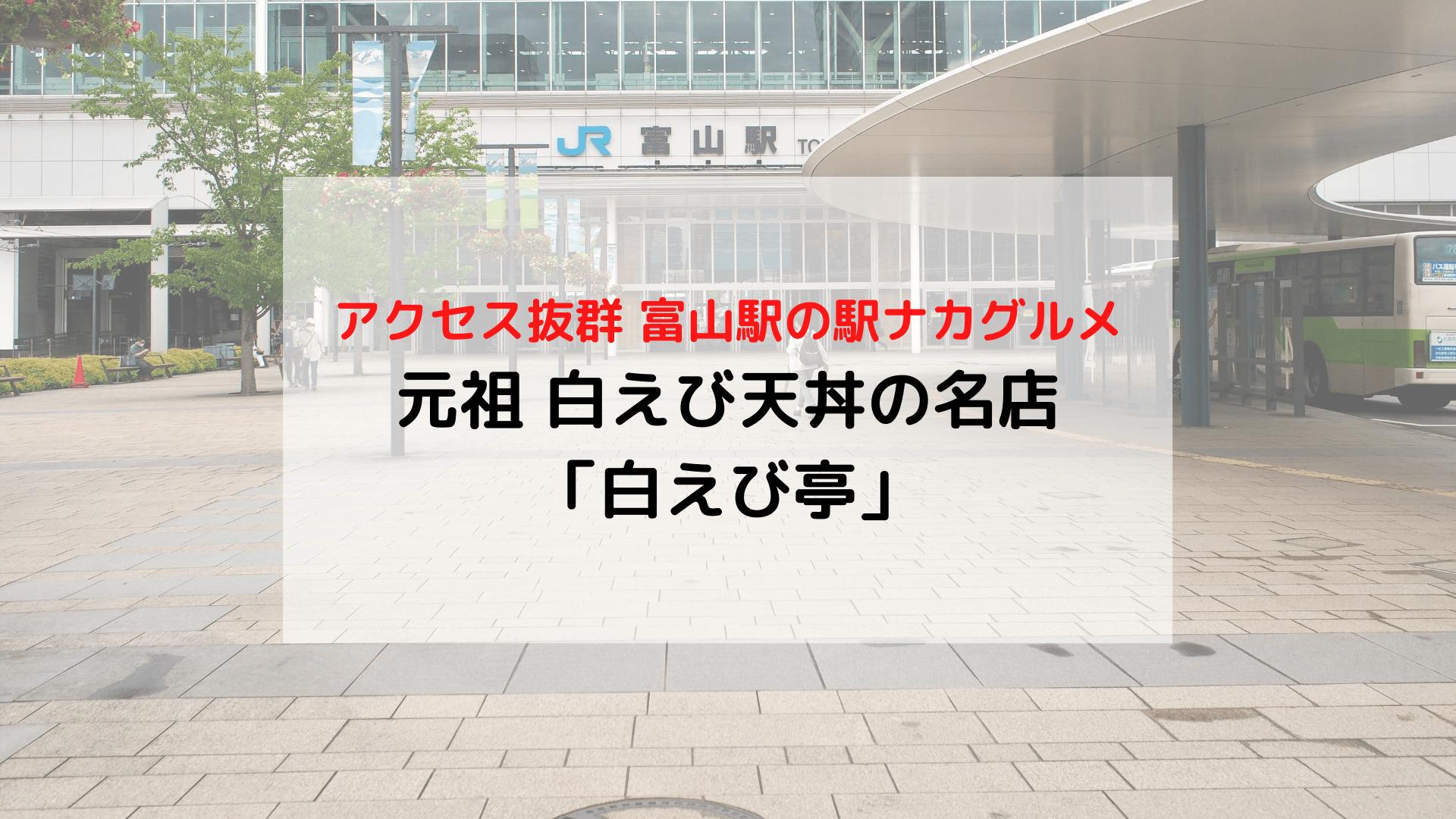 富山駅 駅ナカグルメ 元祖白えび天丼の名店 白えび亭